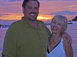 David & Lynn Williams on vacation in the Caribbean.